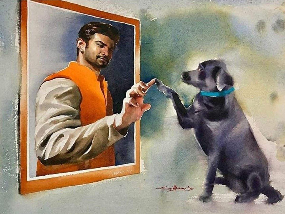 इंटरनेट पर वायरल हो रही है सुशांत की यह पेंटिंग